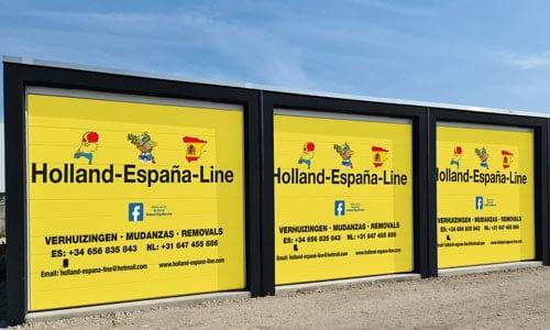 Lagerraum Spanien und Holland